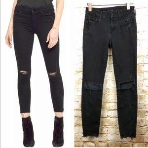 MOTHER Black Skinny jeans frayed ankle size 24